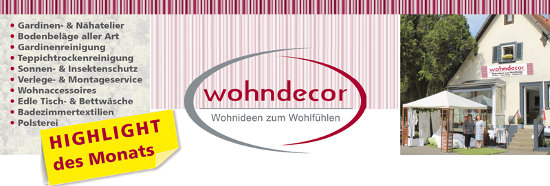 wohndecor: Highlight im September